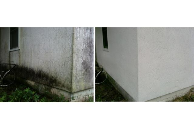 Fassadenreinigung - Vorher Nachher