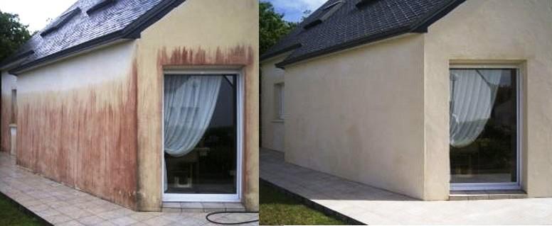 Vor und Nach der Fassadenreinigung