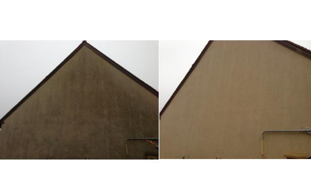Ergebnisse der Fassadenreinigung