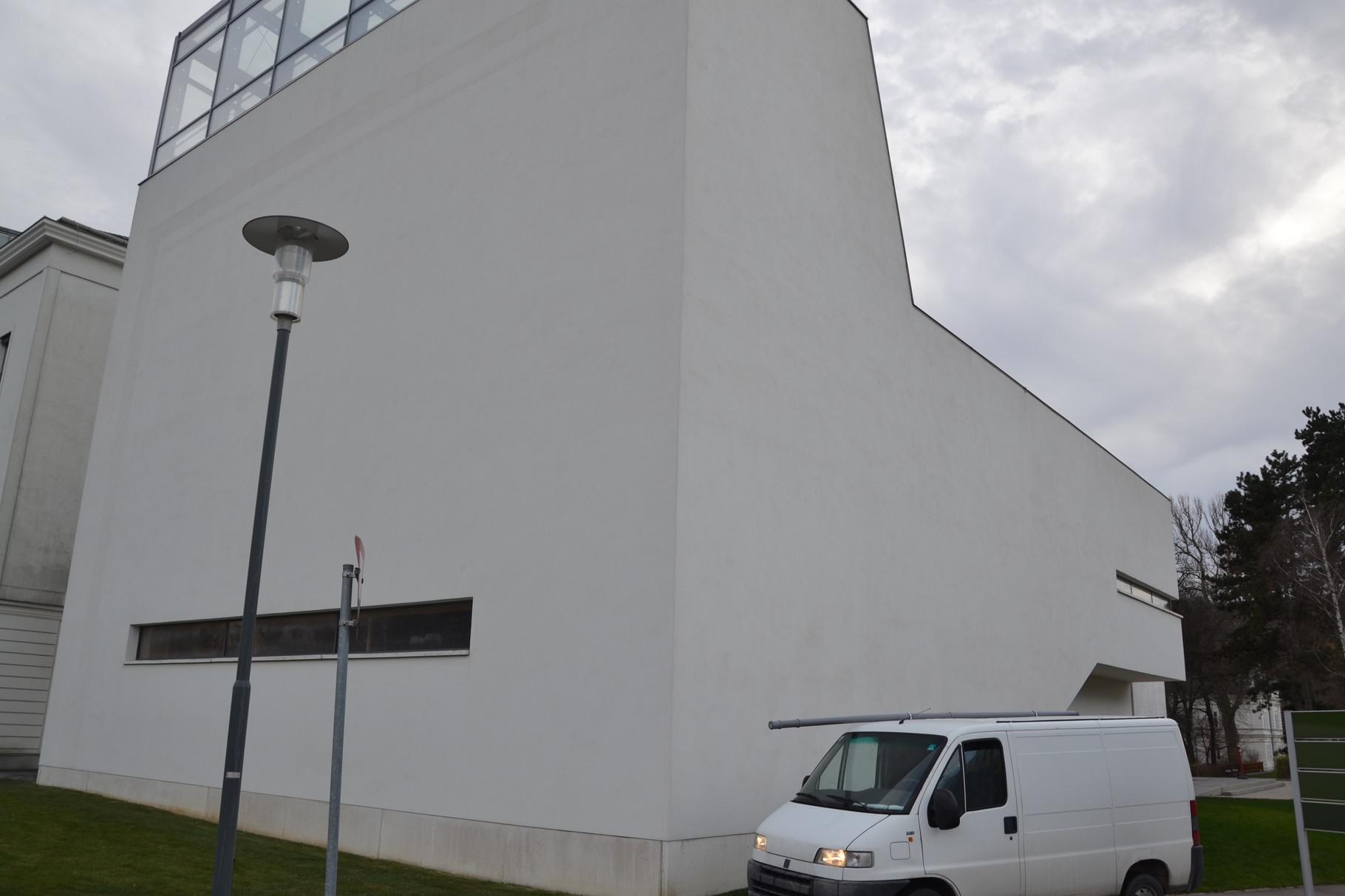 Beide Seiten nach der Fassadenreinigung