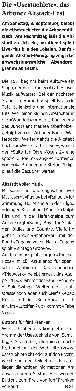 Wochenzeitung felix, 26.08.2016