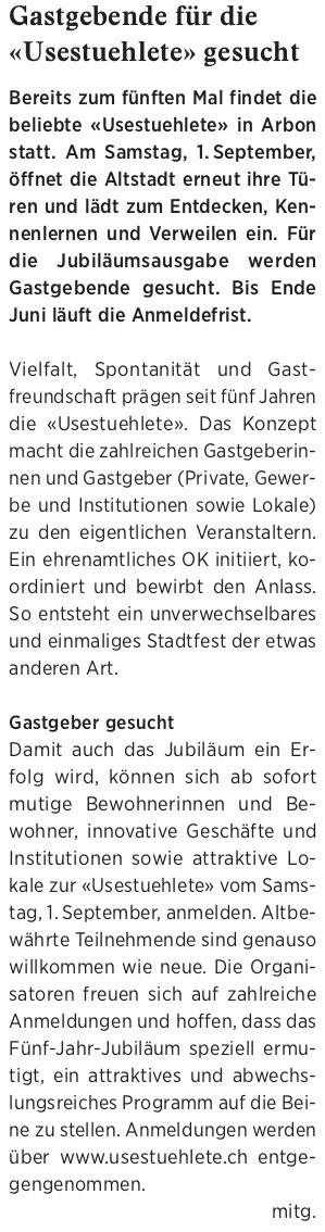 Wochenzeitung felix, 25.05.2018