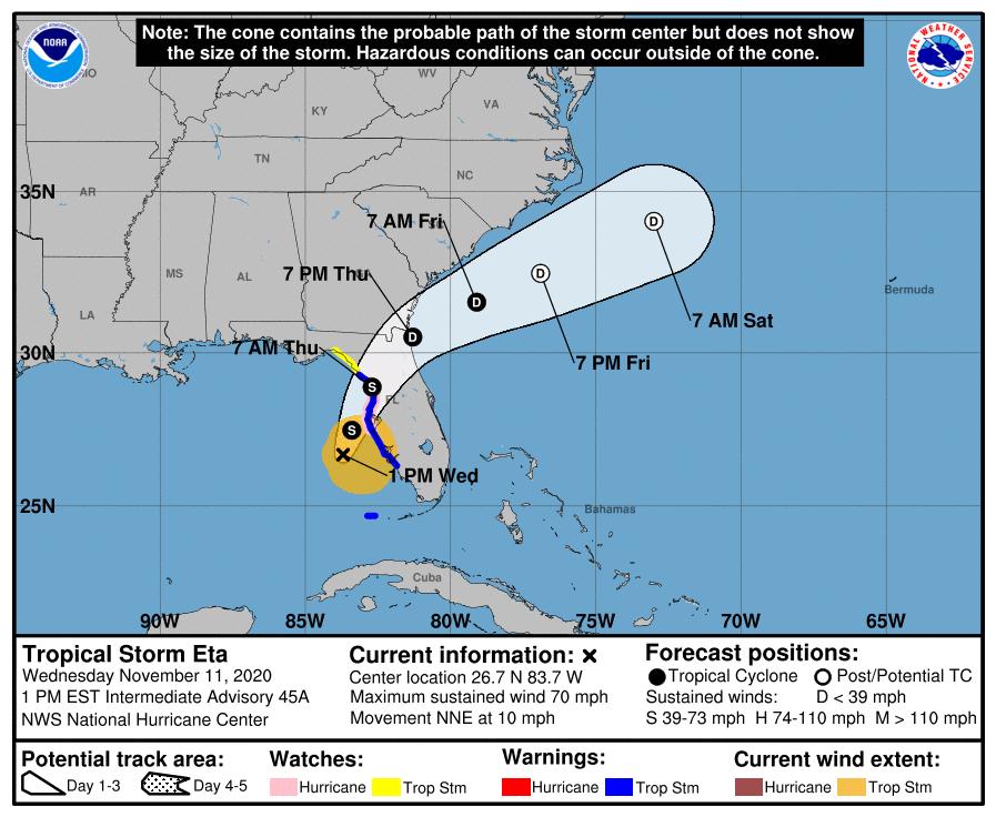Office Closure for Tropical Storm Elsa
