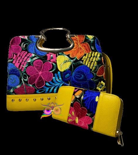 Leder Damentasche und Geldbeutel