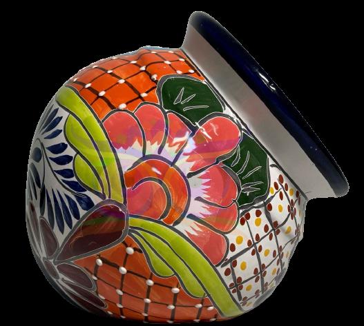 Bunte Keramiktöpfe in viele Varianten