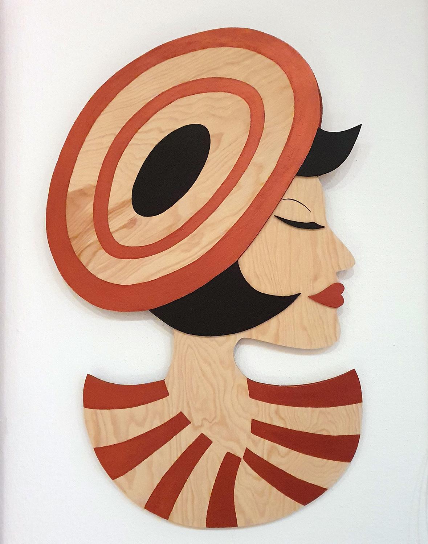 Portrait of a Lady | Tina Wahren | Acryl auf Holz