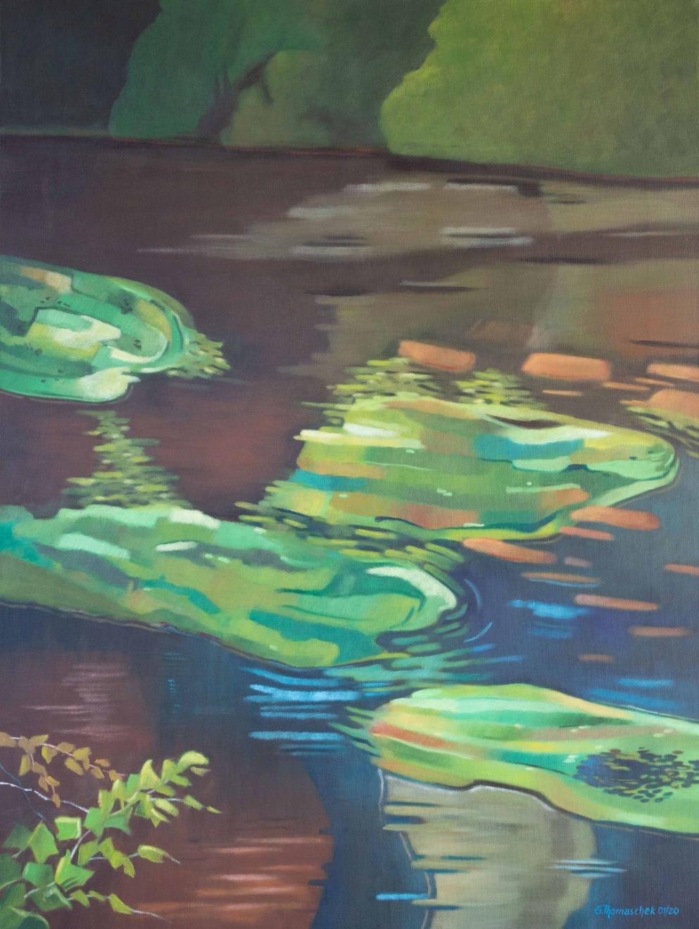 Leuchtendes Grün | Günter Thomaschek | Öl auf Leinen