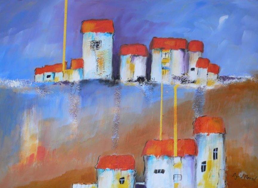 Mediterran | Sirid Menzel | Acryl-Collage