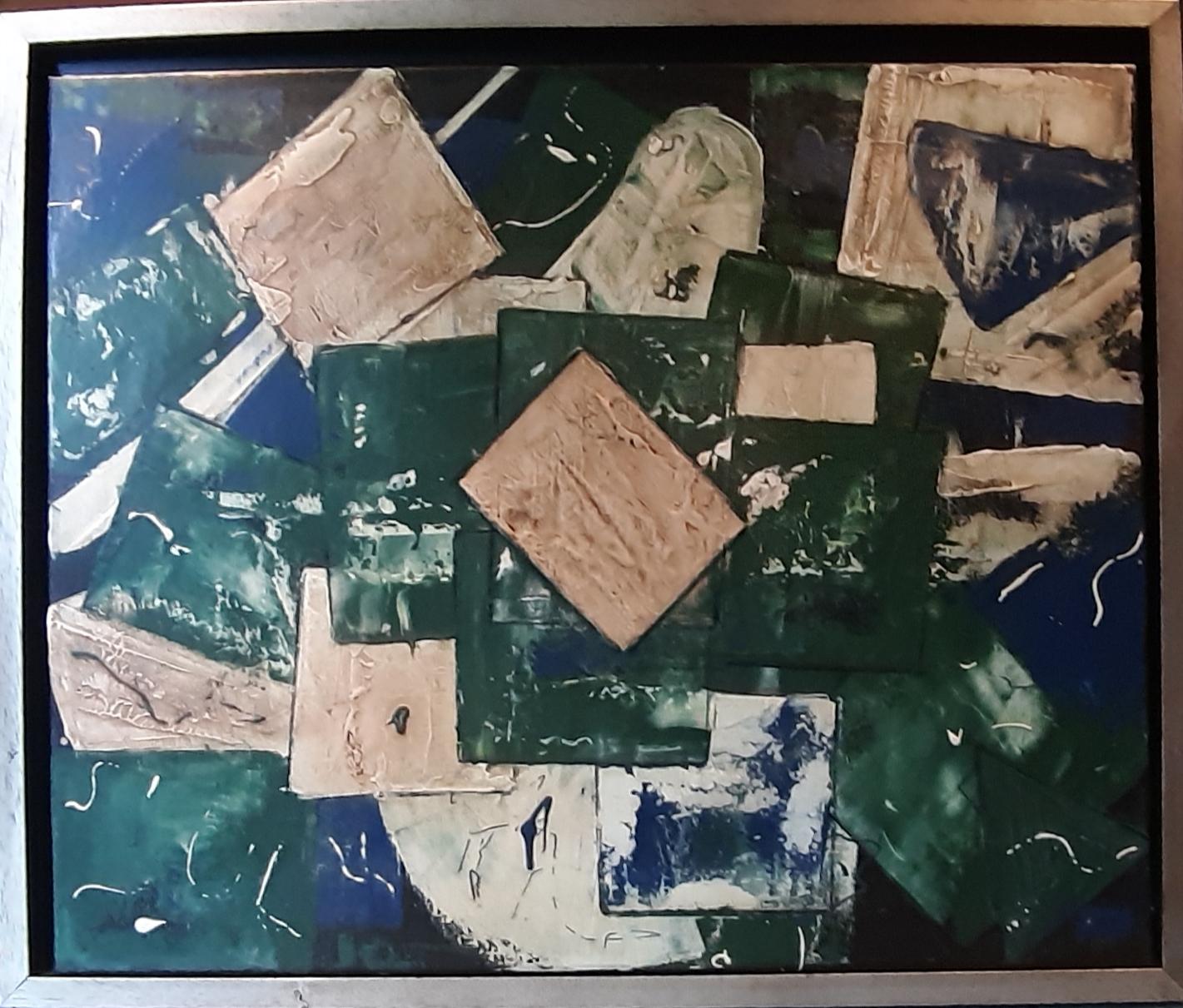 Abstrakt 5 | Evelyn Reschke | Kreidefarben, Wachs auf Leinen