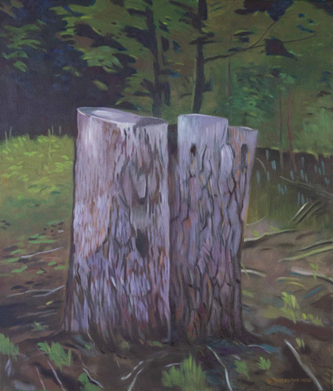 Forstwirtschaft | Günte Thomaschek | Öl auf Leinen