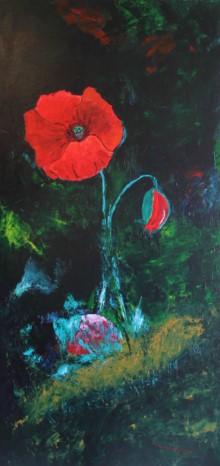 Die Rose | Horst Alvermann | Acryl auf Leinen