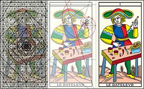 神聖幾何学の上でトレースされたLEBATLEVR