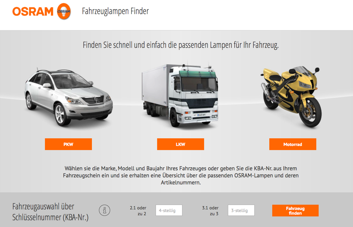 lampenfinder osram philips led f rs auto besseres licht beim fahren. Black Bedroom Furniture Sets. Home Design Ideas