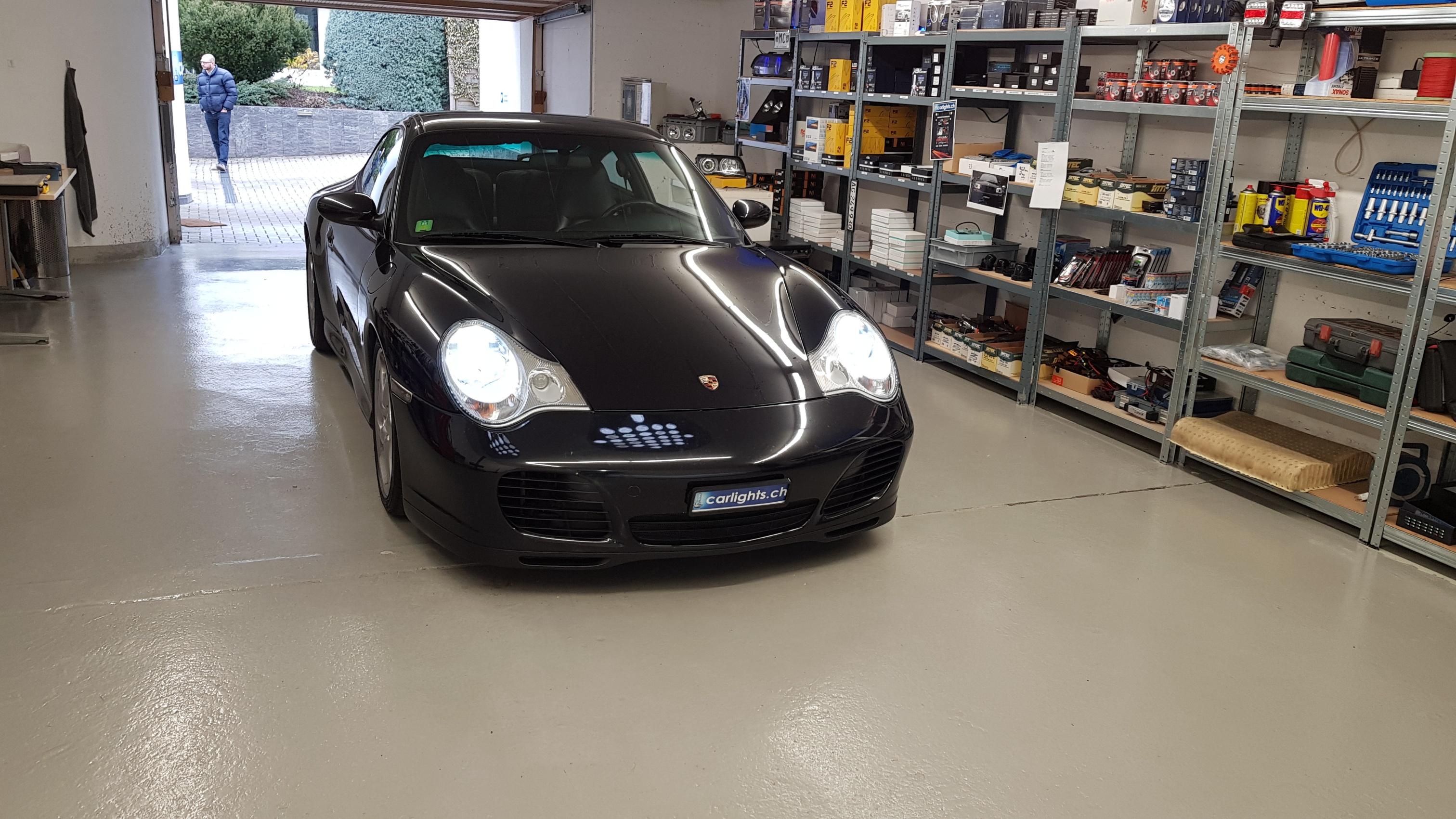 PORSCHE  911 CARRERA 4S LED Umbau abblendlicht ED H7 Philips X-Treme Ultinon 200% mehr Licht Standlicht LED Swiss Made