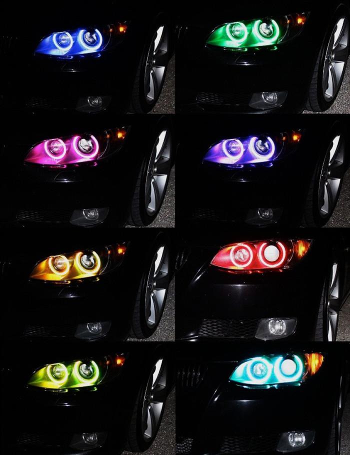 BMW angel eyes farbig RGB weiss mit funk fernbedienung
