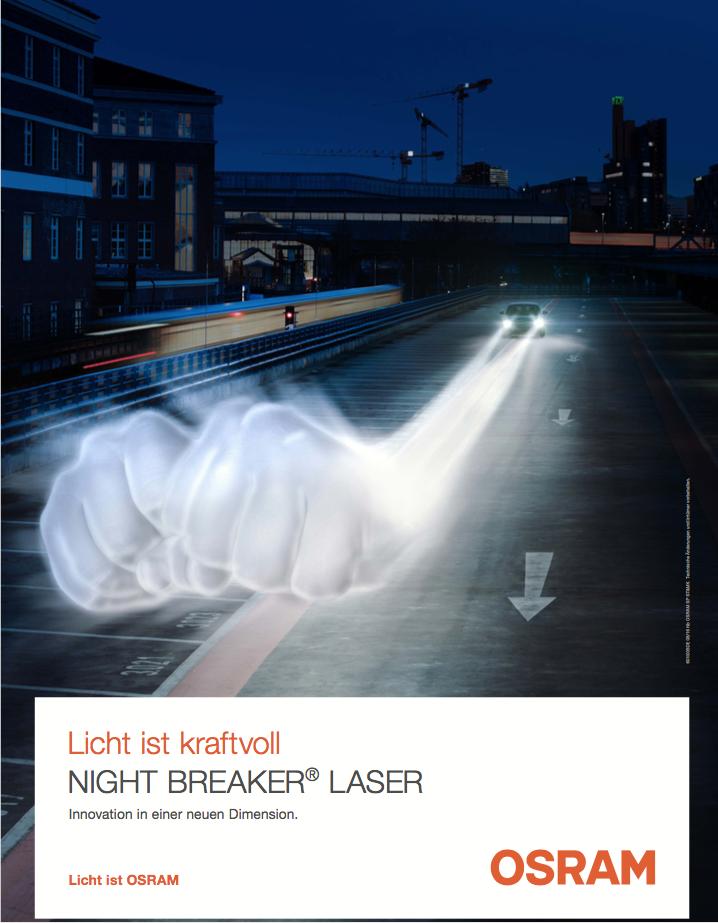 OSRAM NIGHT BREAKER LASER HALOGEN LAMPEN 130% MEHR LICHT  H7 H4