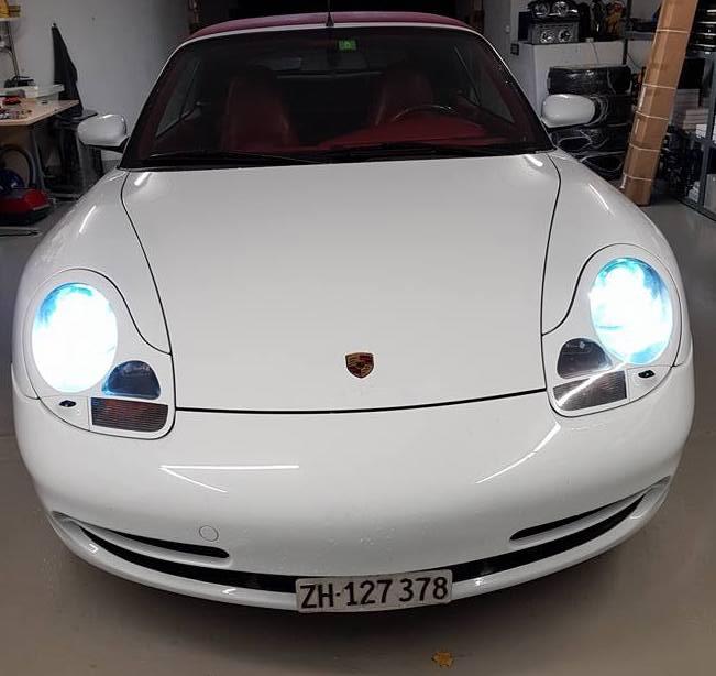 Porsche 911  996 Jg 1998 LED Umbau Standlicht H6W Xenon D2S Osram CBI 6000K