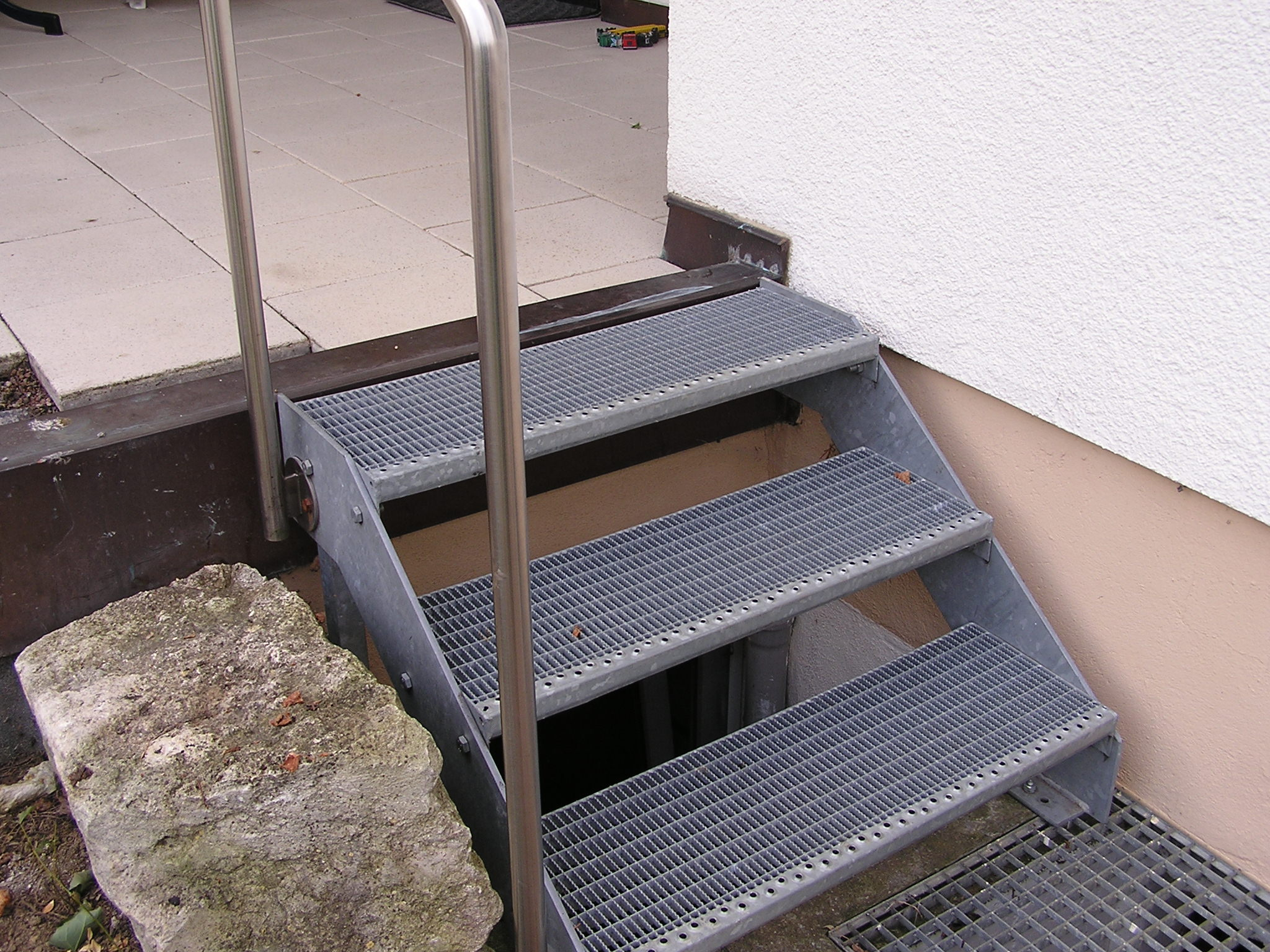 gitterrost treppe