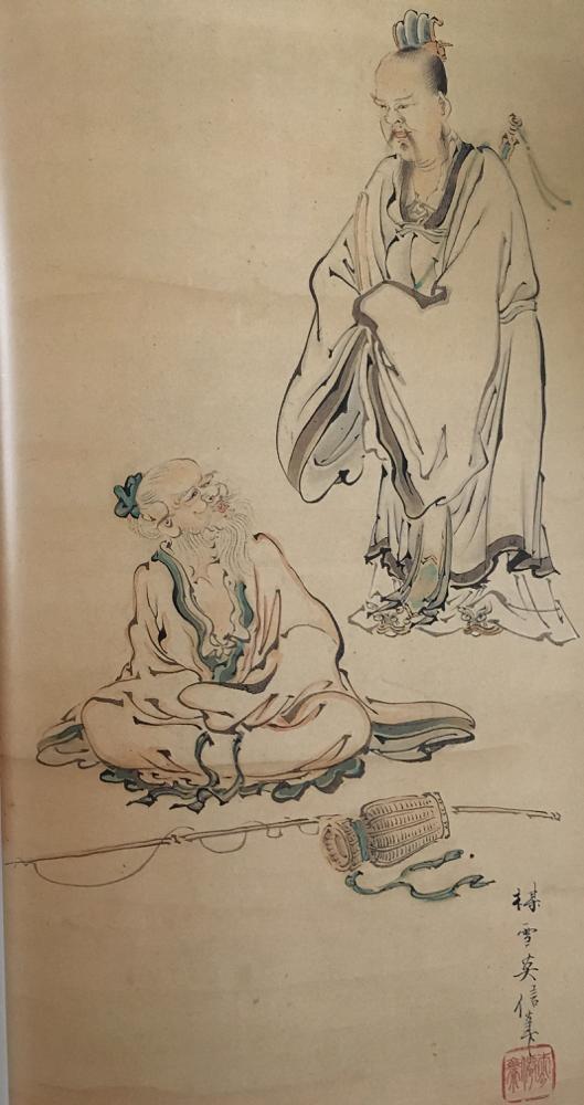 文王と太公望(東松山市・江野家蔵)