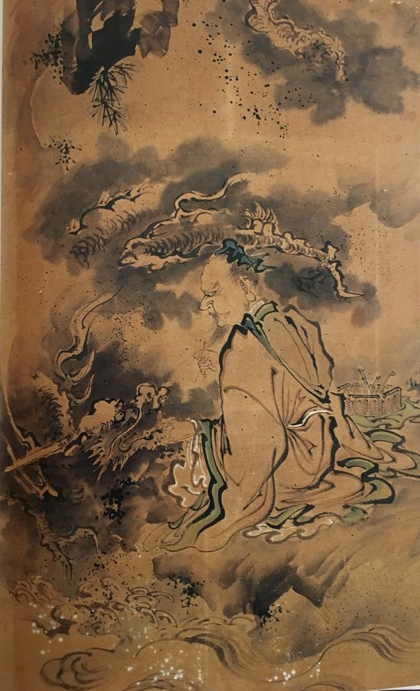 諸葛孔明と龍図  (東松山・江野家蔵)