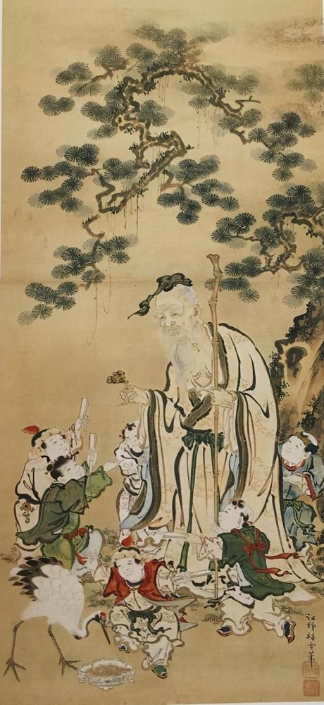 寿老人(リンデン博物館/ベルツコレクション)