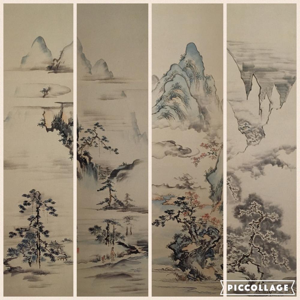 山水四季図(春・夏・秋・冬)