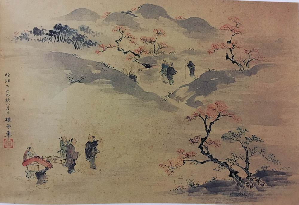 紅葉狩り図(東松山市・鷺澤家蔵)
