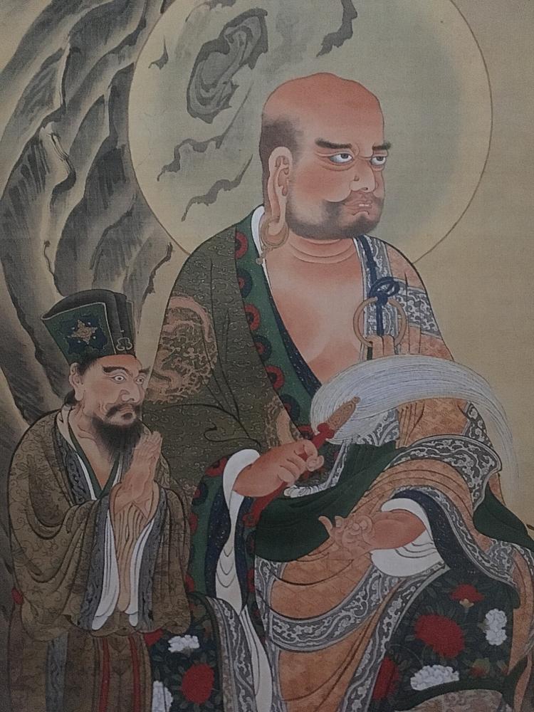 十六羅漢図の二図 (two of 16 arhats)