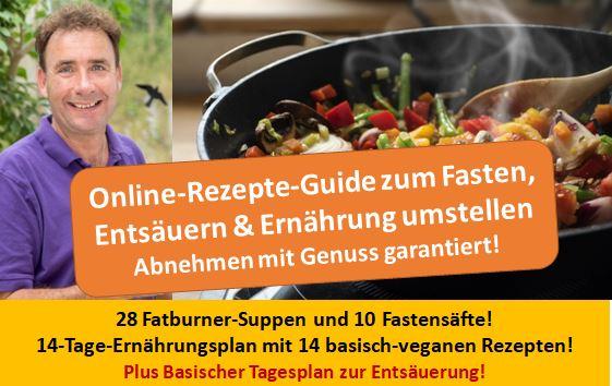 NEU Rezepte-Guide - 52 basisch-vegane Rezepte zum Fasten, Entsäuern und Abnehmen