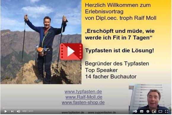 """Dauerhaft """"schlank statt sauer"""" Typgerecht ist die Lösung - der 35 Minuten Power Point Vortrag von Ralf Moll"""