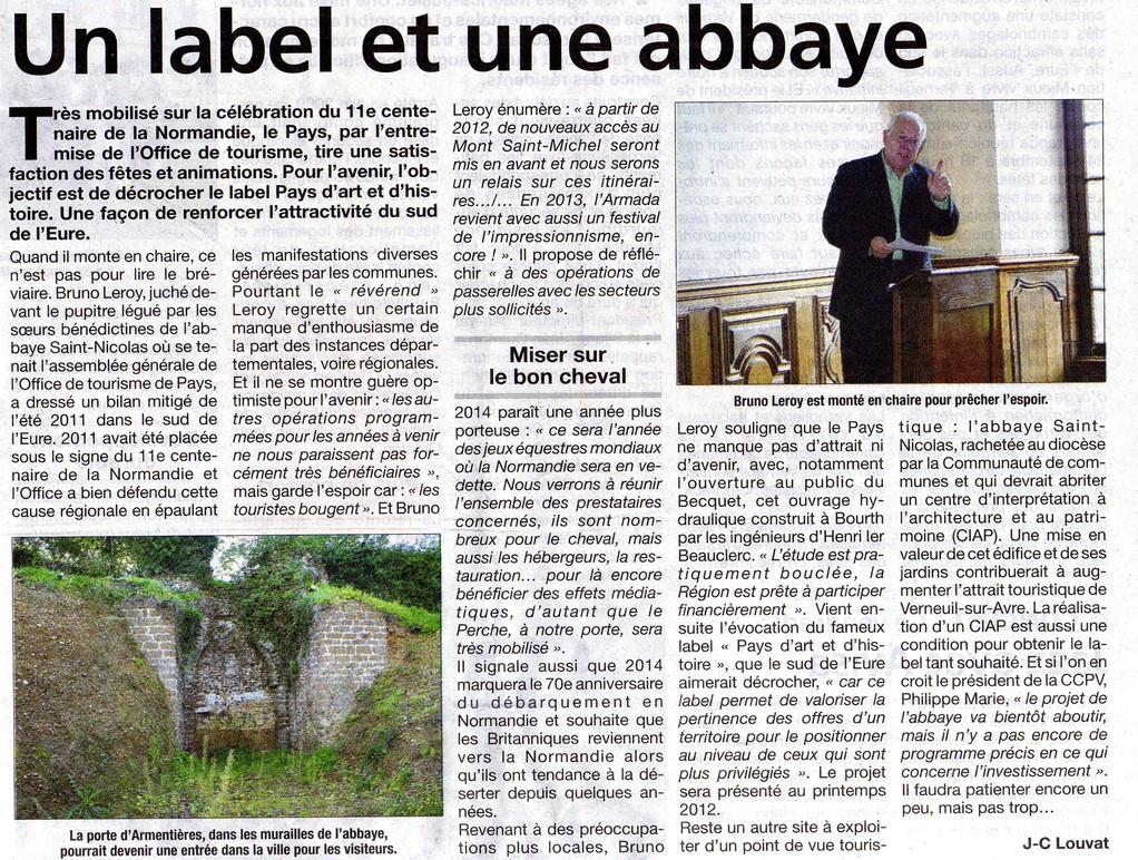 Office de tourisme abbaye saint nicolas de verneuil sur avre - Office de tourisme verneuil sur avre ...
