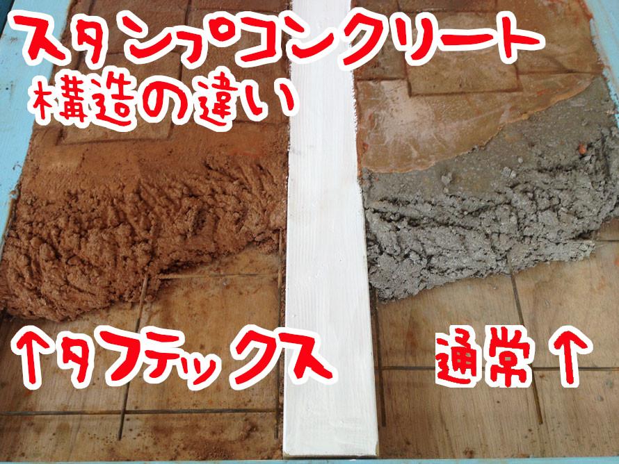デメリット 失敗 劣化 剥がれ はがれ 色落ち 色褪せ 耐久性 経年変化 スタンプ デザイン コンクリート 滑る 滑り  スタンプコンクリート ステンシル ファンタジー モルタル造形 デザインコンクリート タフテックス ローラーストーン ㈱関西真空様