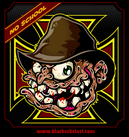 blackrebelart black rebel art freddy krueger monster art