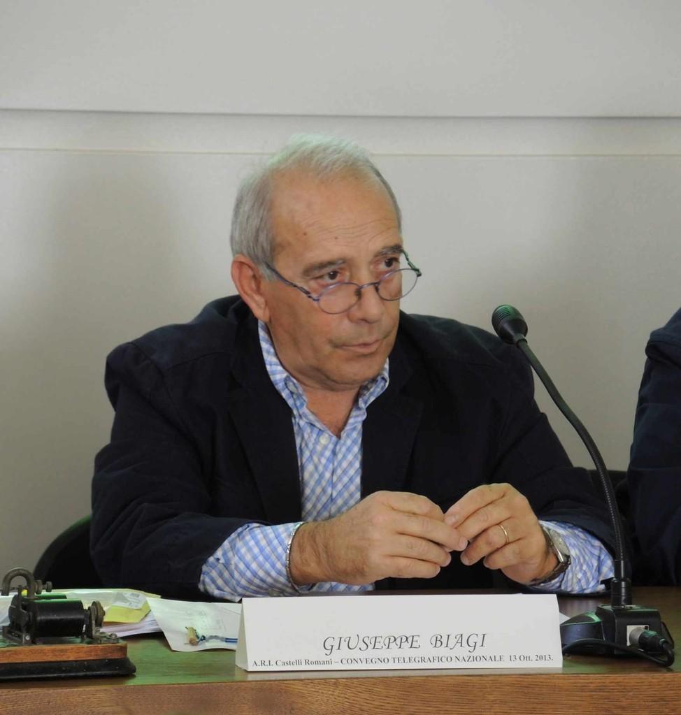 Giuseppe Biagi durante l'intervento al Convegno Telegrafico Nazionale. Ariccia, 13 ottobre 2013