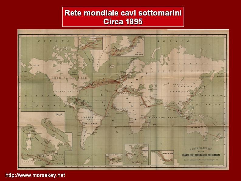 La rete mondiale dei cavi sottomarini - 1865.