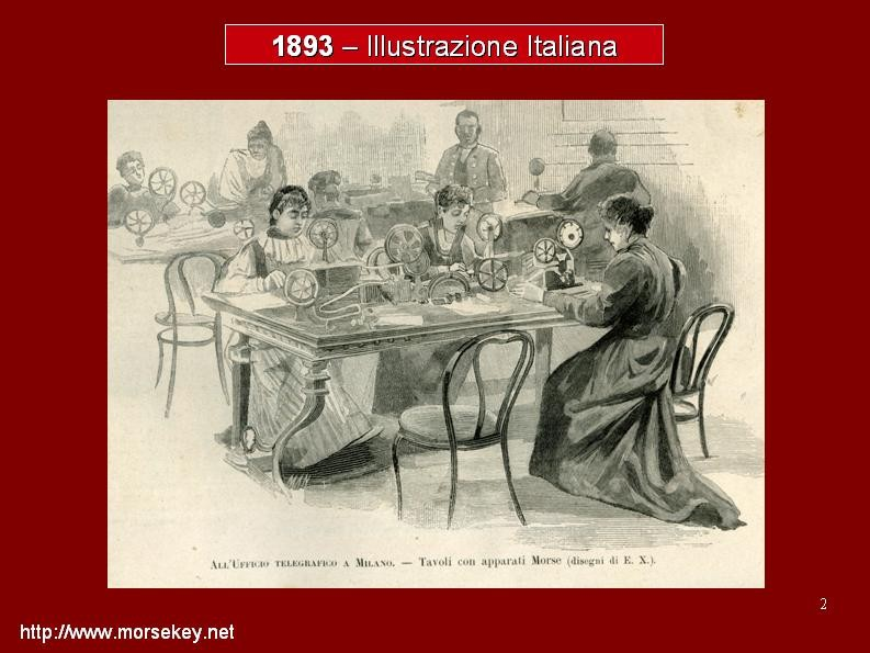 Immagine dell'ufficio P.T. di Milano con operatrici intente all'invio di telegrammi