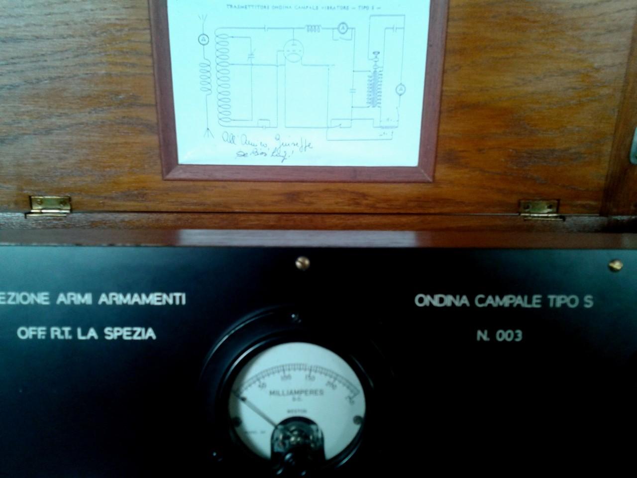 Ondina 33, particolare dello schema elettrico