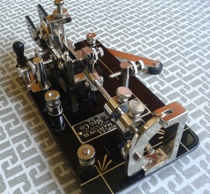 "First Vibroplex DoubleLever ""half frame"" replica of DK4XL."
