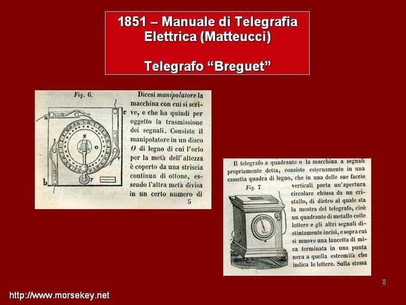 Il Berguet, dal manuale di telegrafia elettrica di Matteucci
