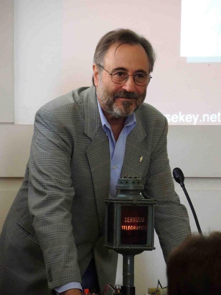 Giordano, Presidente ARI Roma, all'apertura del Convegno Telegrafico Nazionale