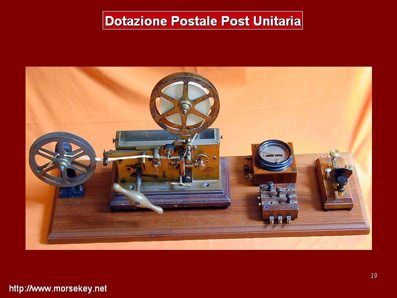 Dotazione postale standard dopo l'unificazione dell'Italia.
