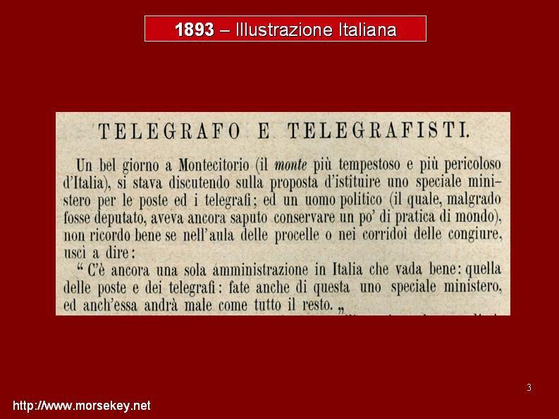 """Un aneddoto """"quasi profetico"""", del 1893 sulla creazione del nuovo Ministero delle Poste e Telegrafi"""