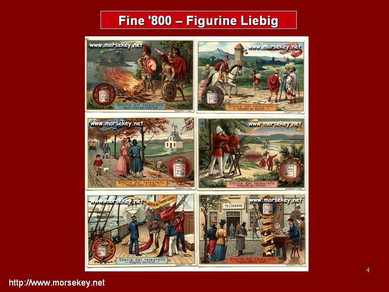 Figurine Liebig con temi telegrafici - fine '800