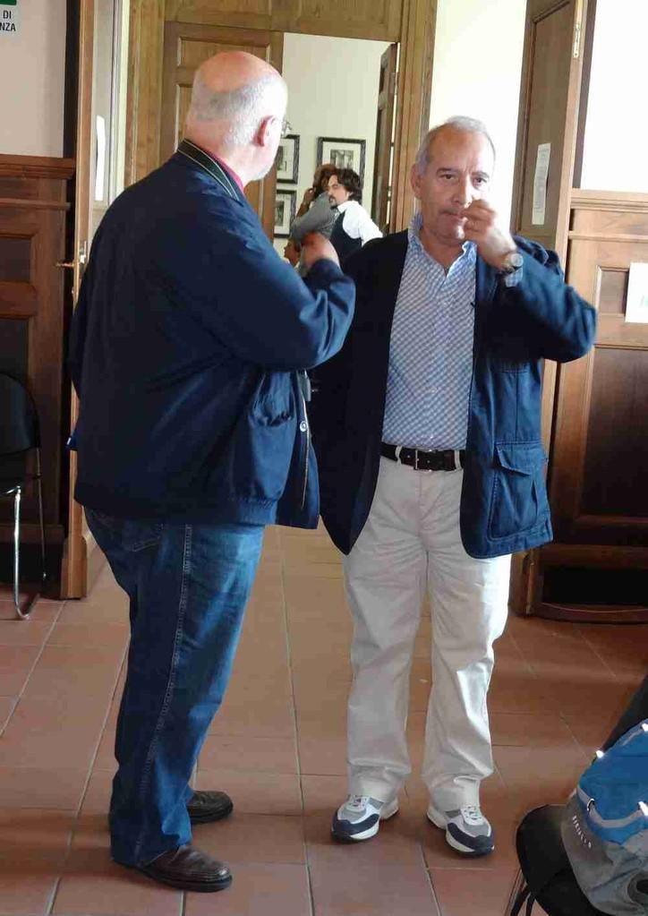 Claudio IZ0HHH con Giuseppe Biagi