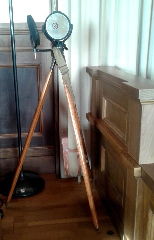 Particolare dell'apparato militare per telegrafia ottica - IK6BAK Eliseo