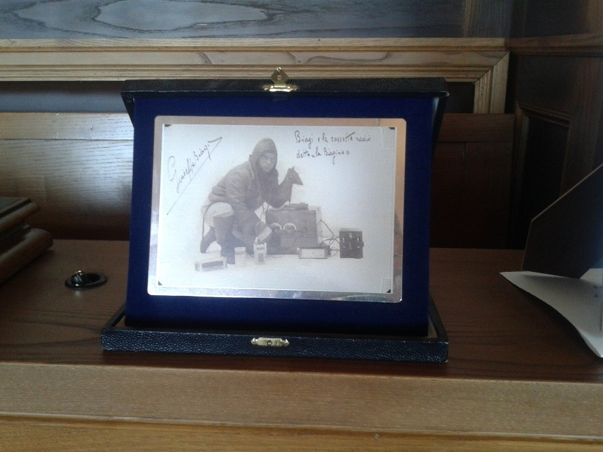 Biagi e la sua Ondina 33 con dedica di Giuseppe Biagi