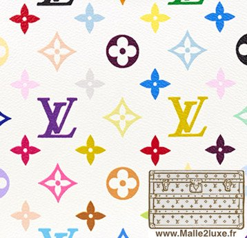 2002 Multicolore blanc - PVC trunk malle vuitton