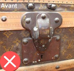 serrure malle courrier louis vuitton oxydé