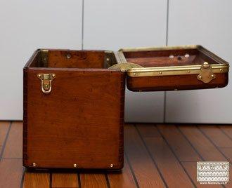 vuitton wood car trunk