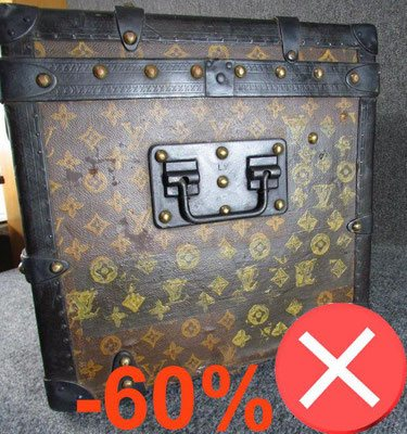 repeinte toile Louis Vuitton malle